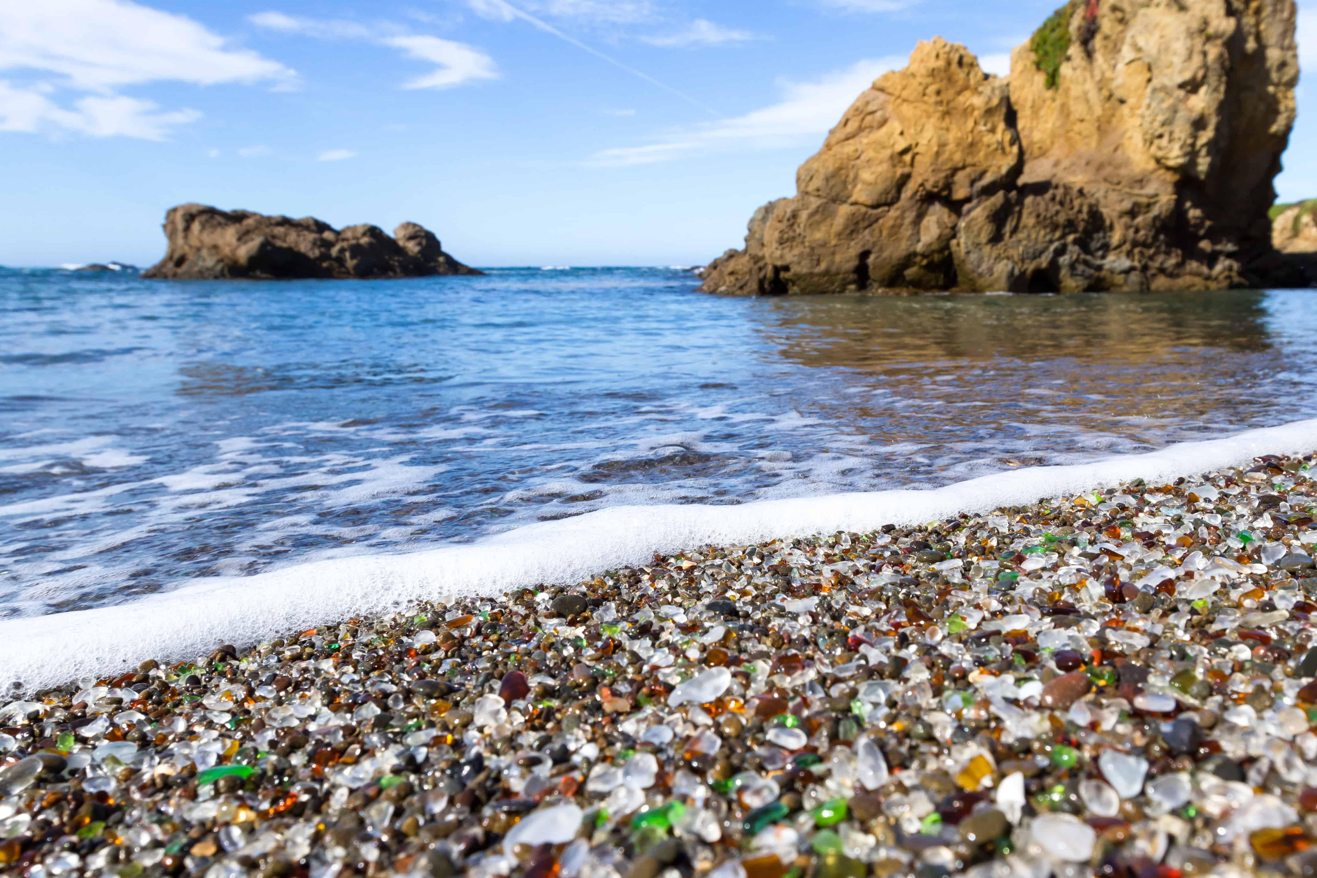 california bucket list ideas glass beach