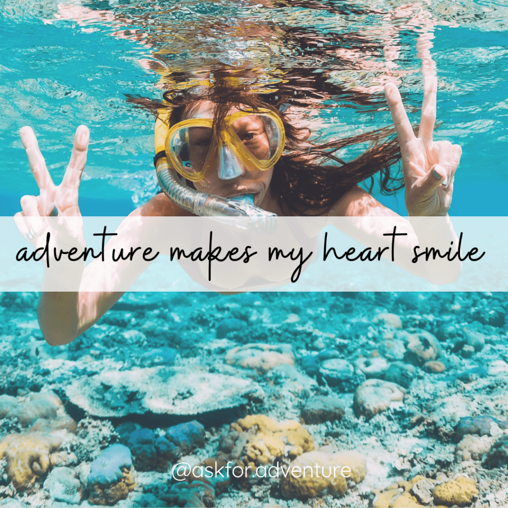 adventure makes my heart smile quote for instagram
