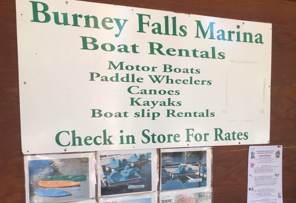 burney marina boat rentals