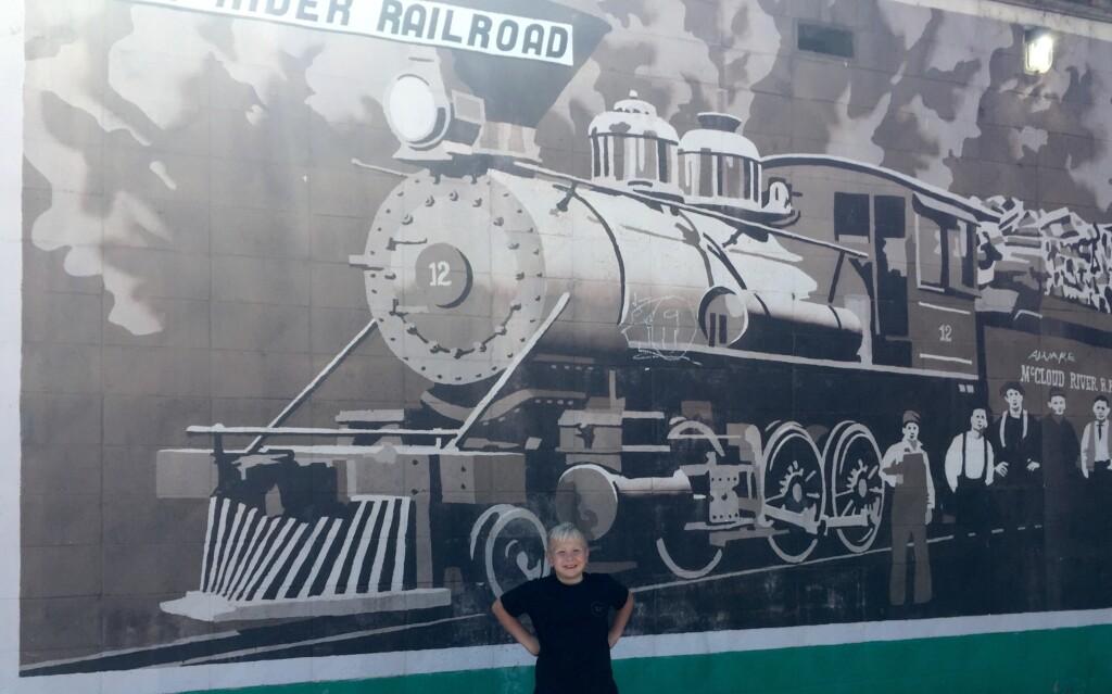 train painting burney ca