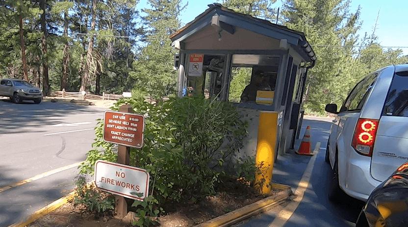 burney falls norther california park entrance