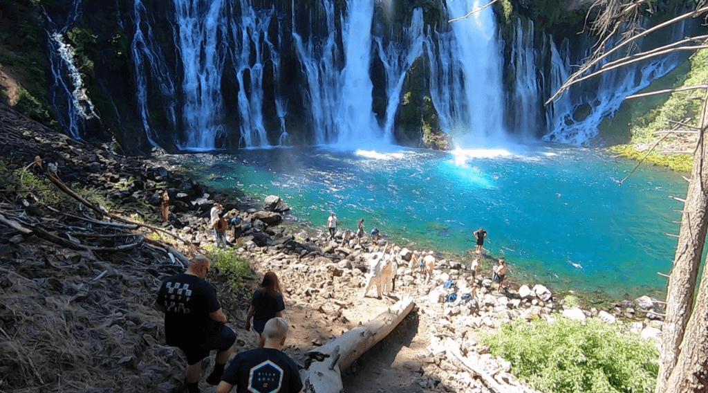 burney falls flows into lake britton