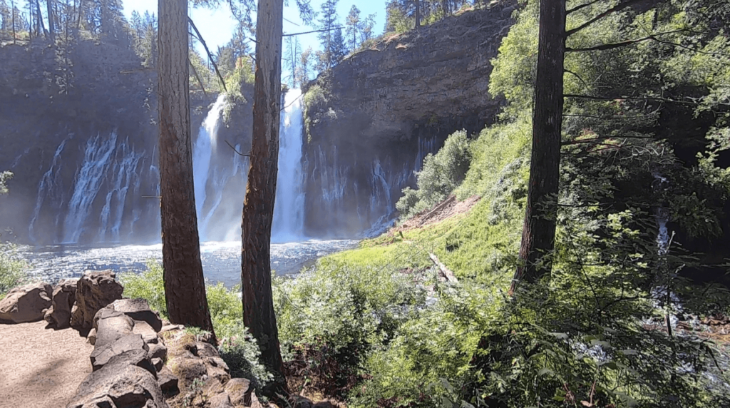 burney falls at the end of the trail