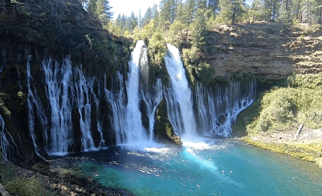 burney falls photo from trail
