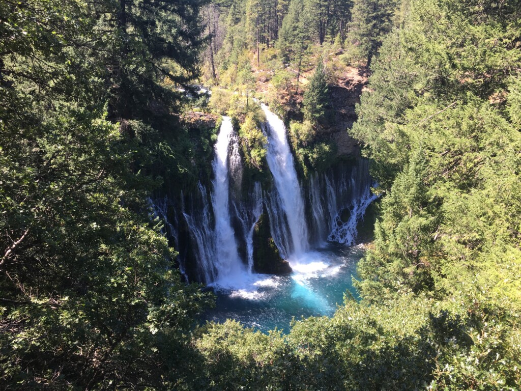 burney falls northern california from lookout