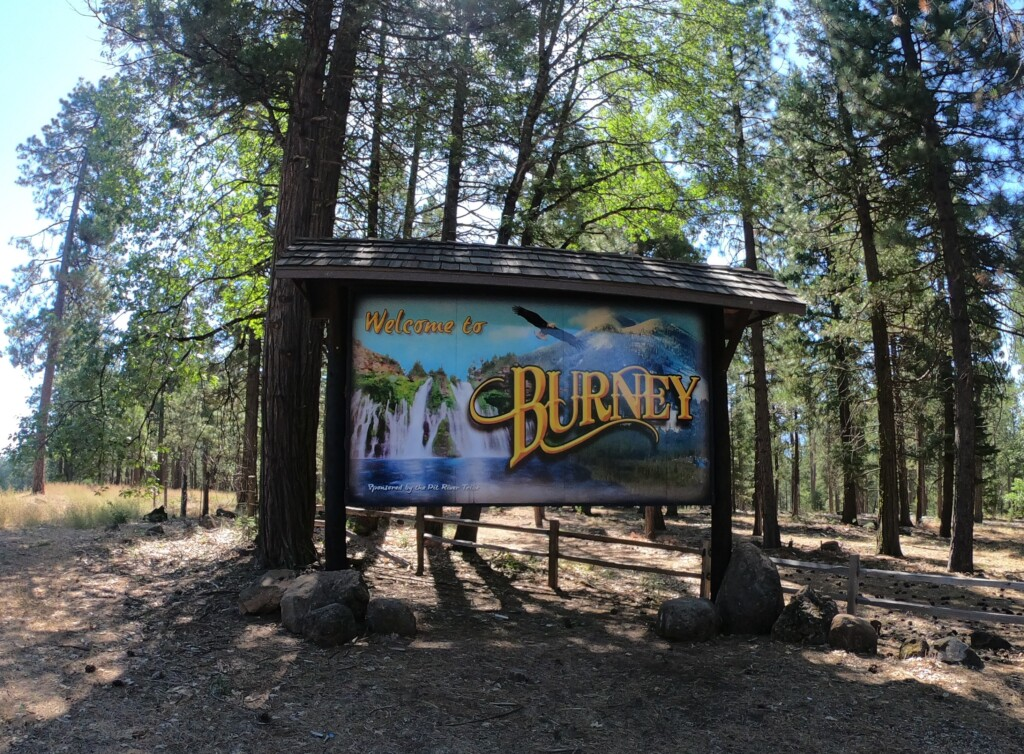 burney ca sign