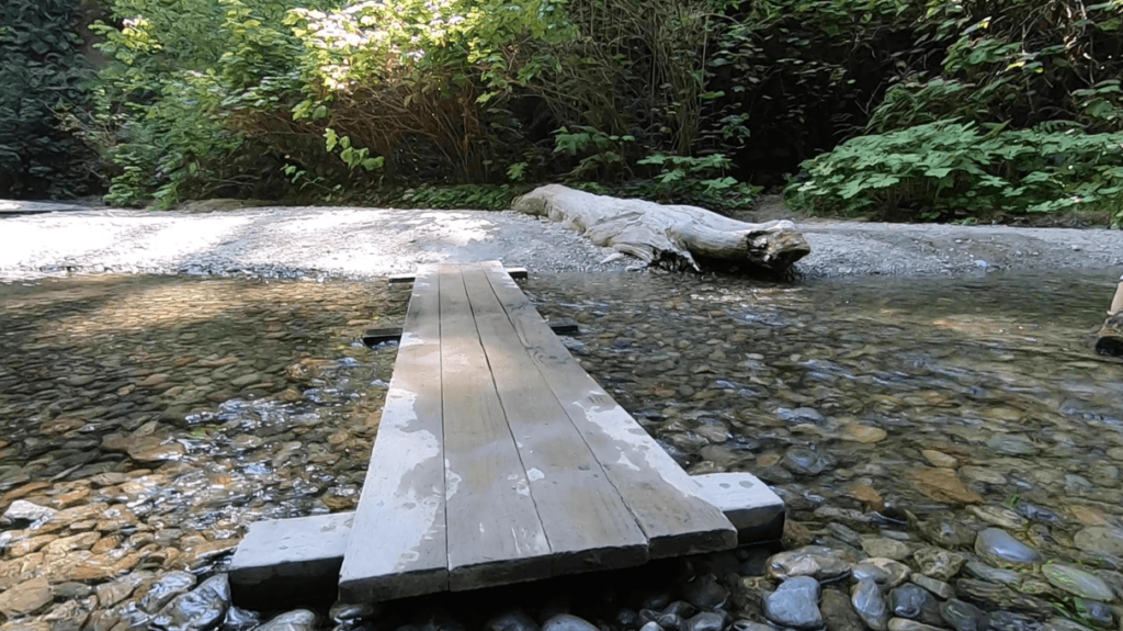 walking bridge over home creek