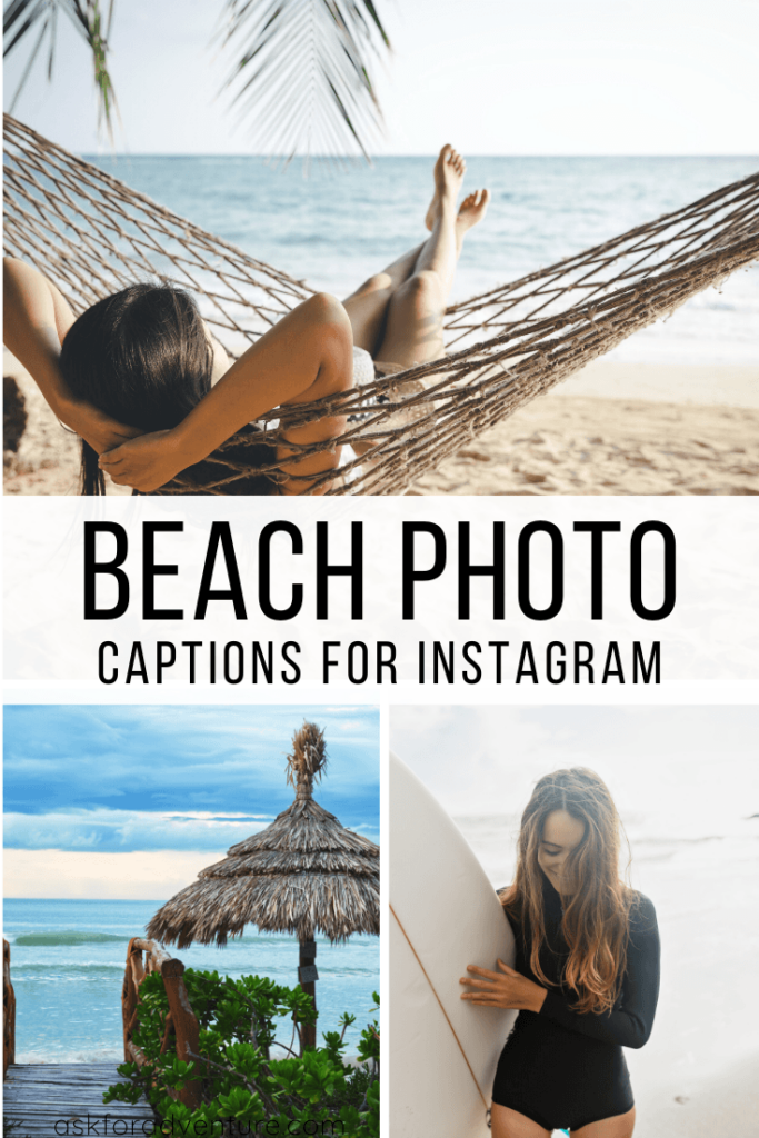 good captions for beach pictures on instagram