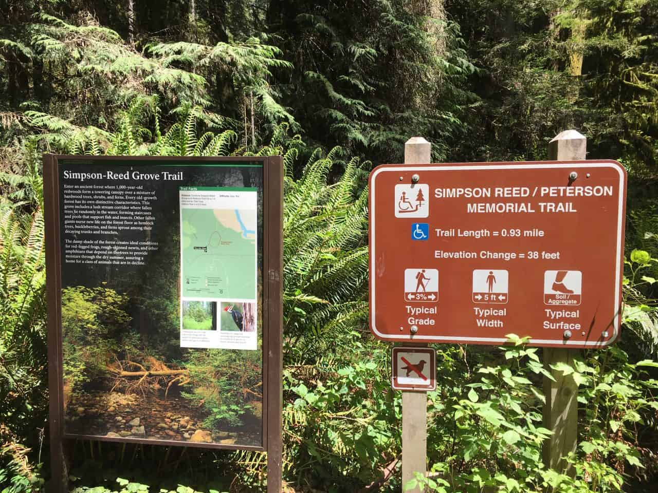simpson reed hiking trail