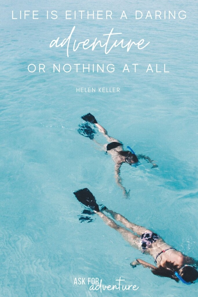 travel quotes by Helen Keller 16 | Life is either a daring adventure or nothing at all