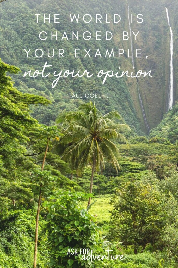 Paul Coelho travel quotes 31  | The world is changed by your example not your opinion.