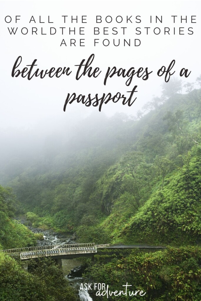 travel around the world quotes 106 | Of all the books in the world the best stories are found between the pages of a passport.