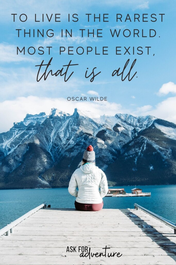 short travel quote by Oscar Wilde 12 | To live is the rarest thing in the world. Most people exist, that is all.