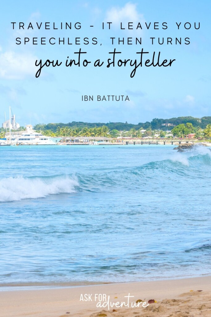 best travel quotes by IBN Battuta 24 | Traveling - It leaves you speechless, then turns you into a storyteller.