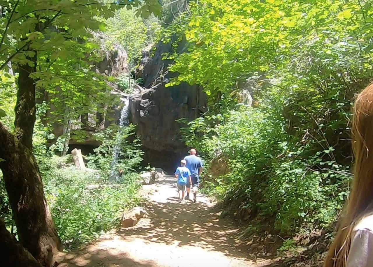 base of hedge creek falls