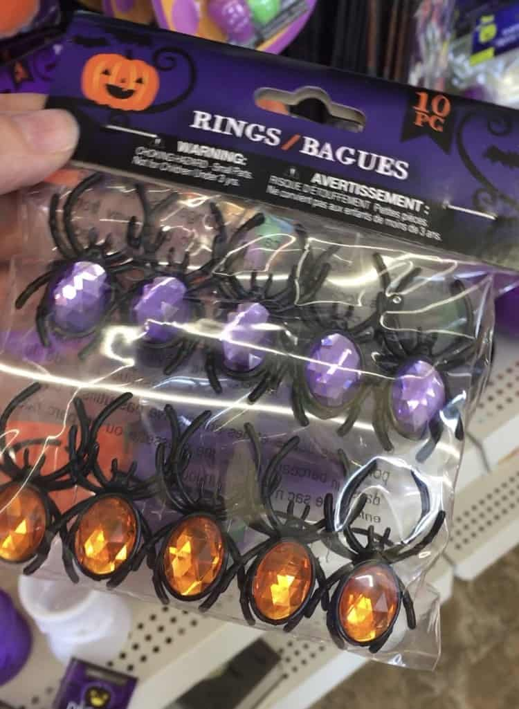 halloween spider rings with jewels