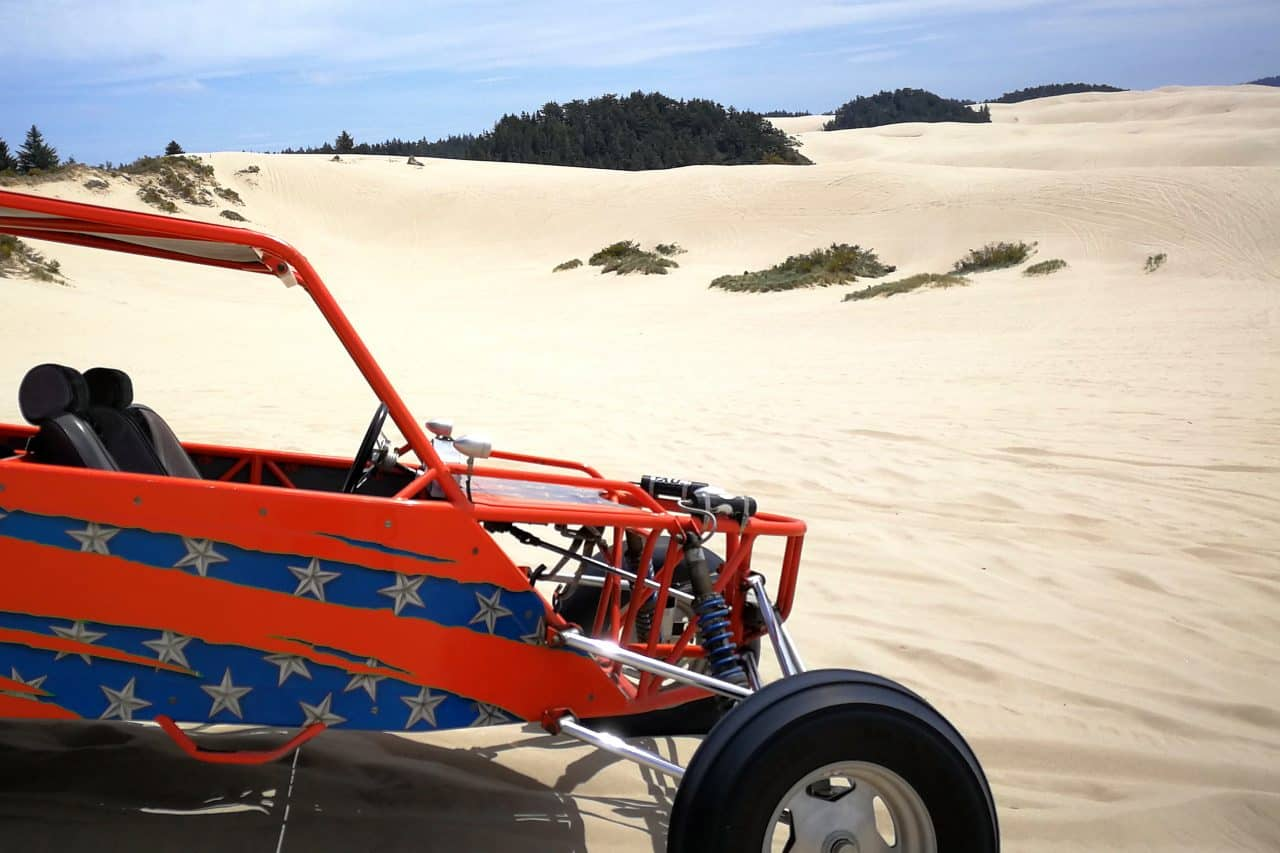 Sand Buggy setting in the oregon sand dunes national recreation area.