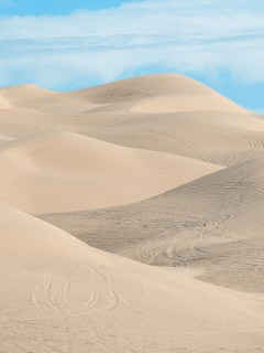 View of Dumont sand dunes riding area in California