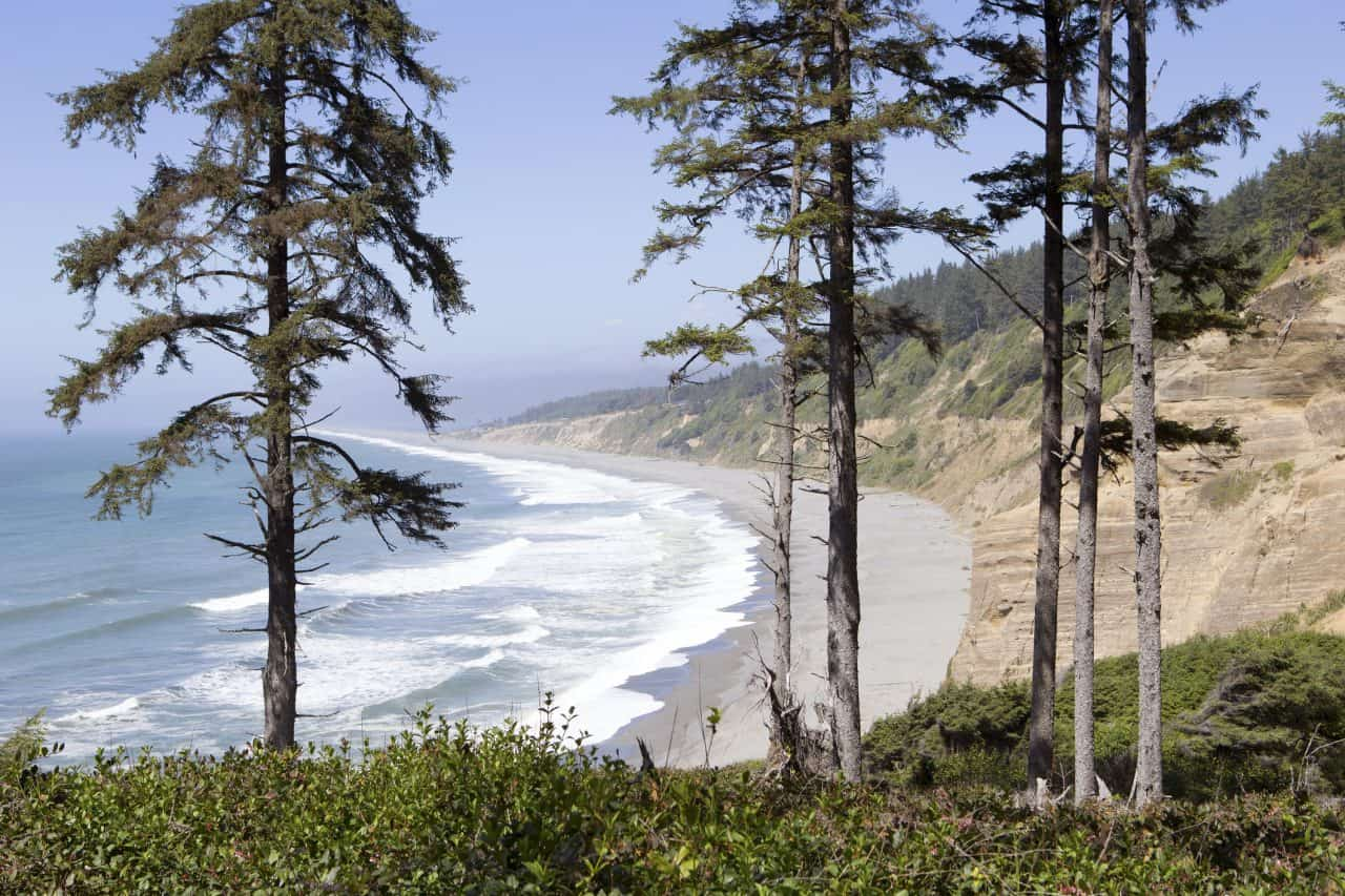 A view of Agate Beach from the Parking area above.