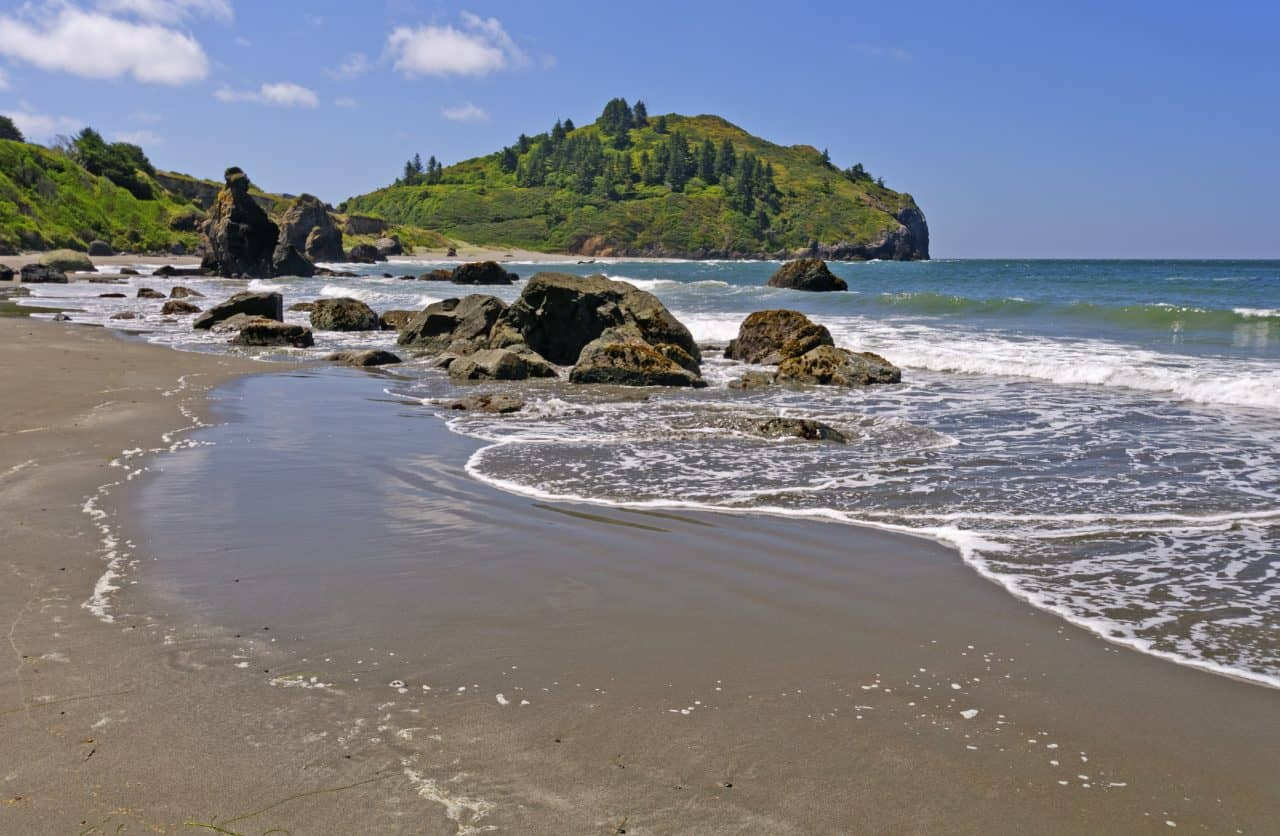 Trinidad State Beach in Northern California.