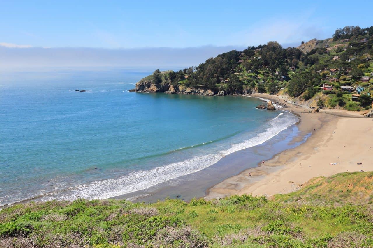 Overlook of Muir Beach in California.