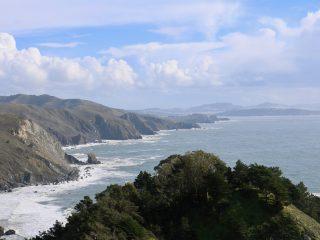 View of ocean at Muir Beach Overlook.
