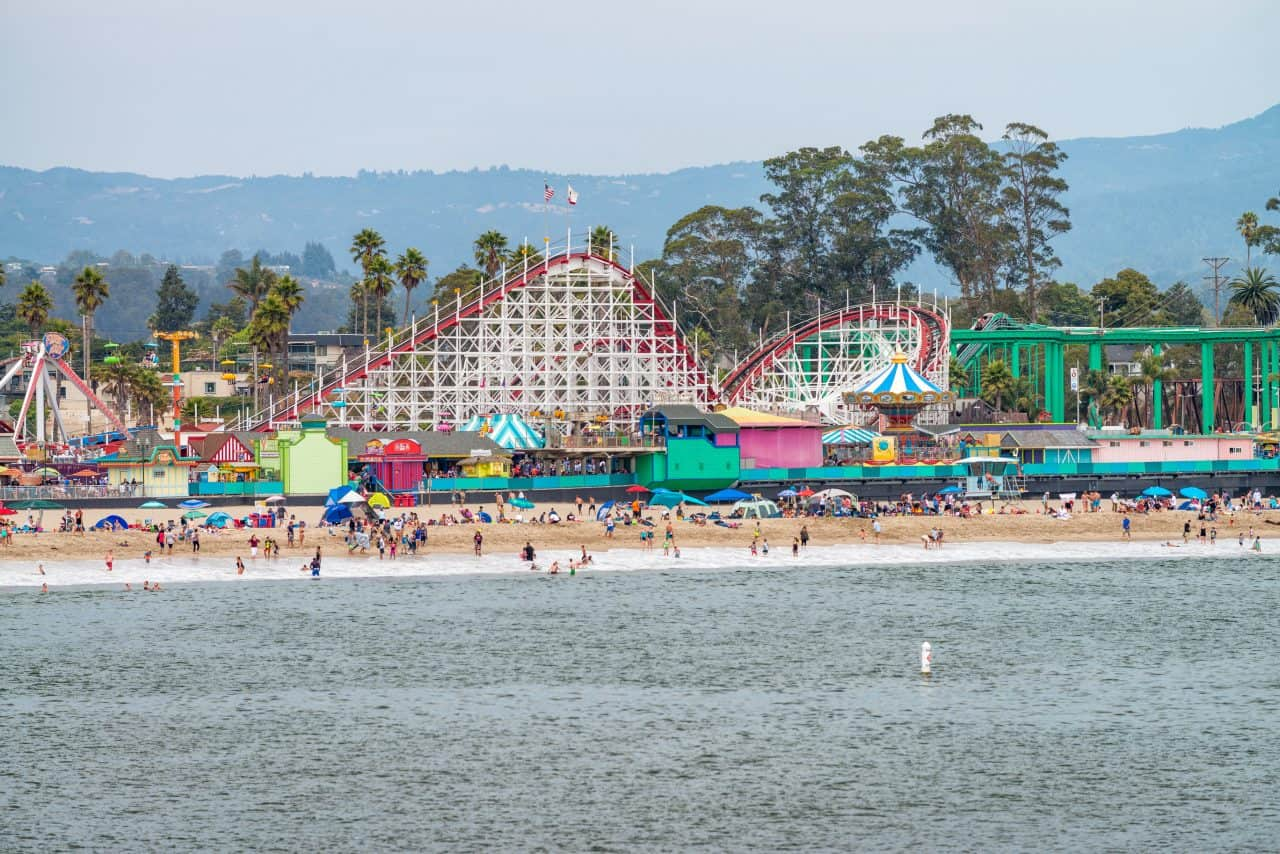 Santa Cruz beach and amusement park.