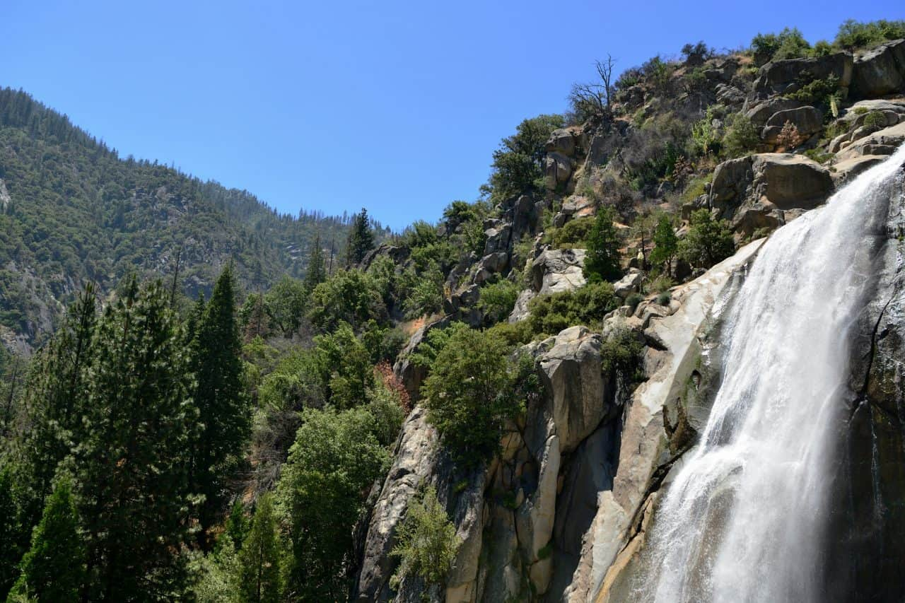 Waterfall in a California National Park
