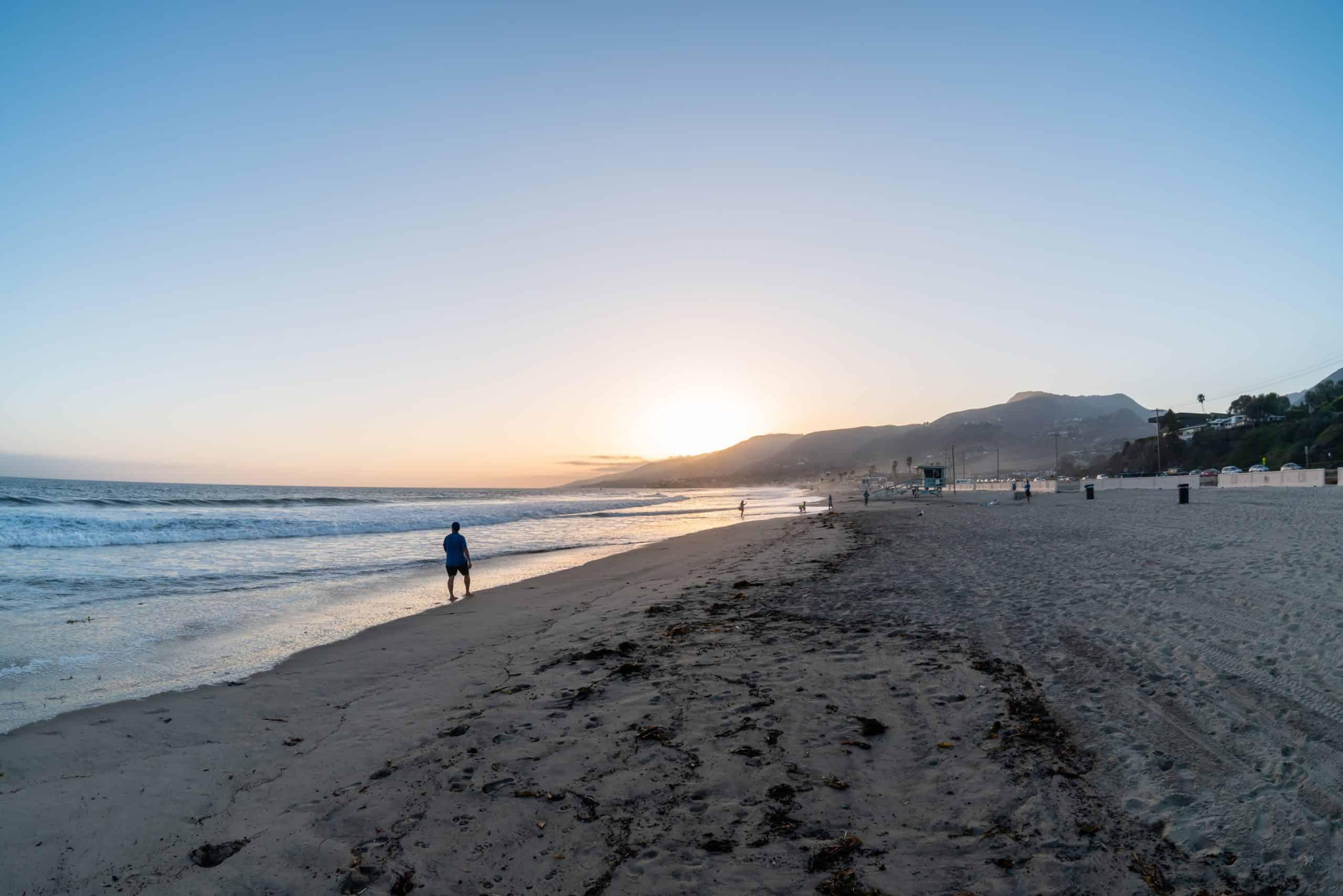 Sunset at Zuma Beach.