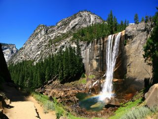 national parks with waterfalls in California