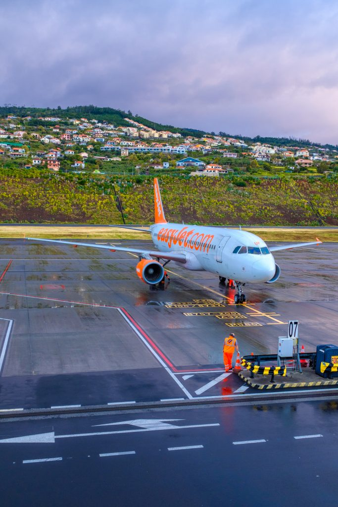 airplane parked at airport