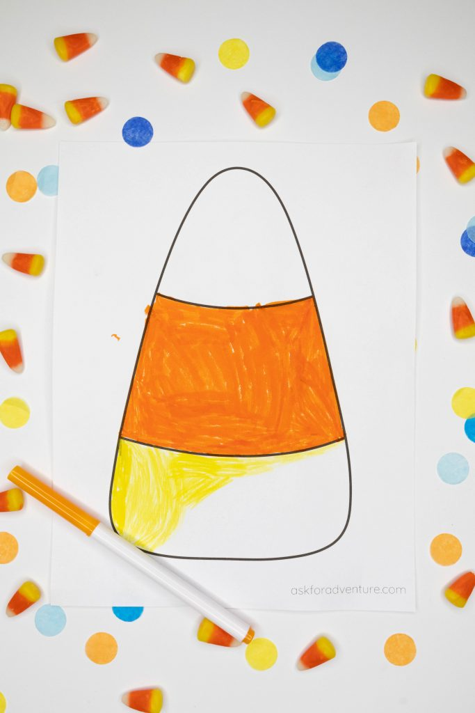 candy corn cut out