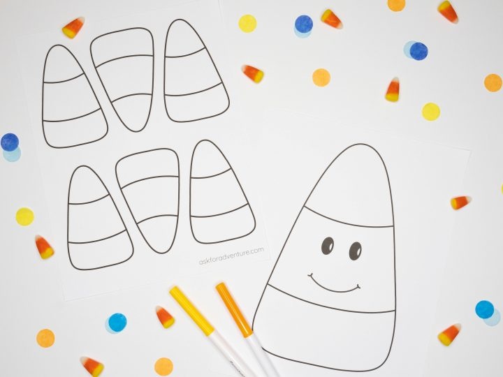 Free Printable Candy Corn Templates for Crafts or Coloring